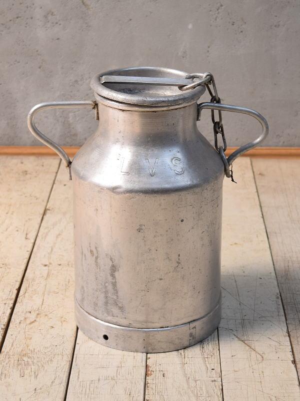 フレンチ アンティーク アルミ製 ミルクキャリー 6832