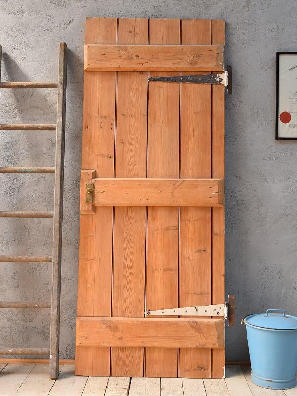 イギリス アンティーク オールドパインドア 扉 ディスプレイ 建具 6838