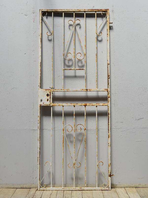 イギリスアンティーク アイアンフェンス ゲート柵 ガーデニング 6870