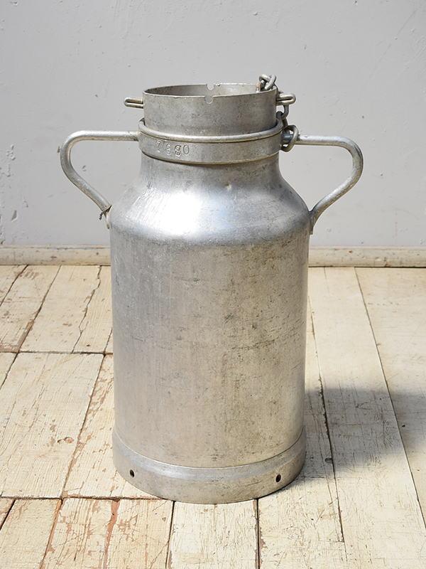 フレンチ アンティーク アルミ製 ミルクキャリー 6883