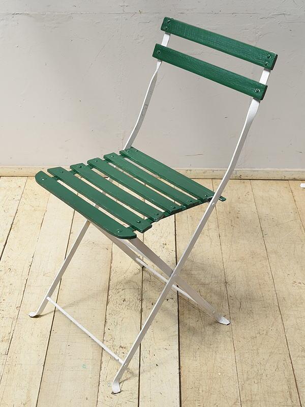 フレンチ アンティーク フォールディング ガーデンチェア 椅子 6896