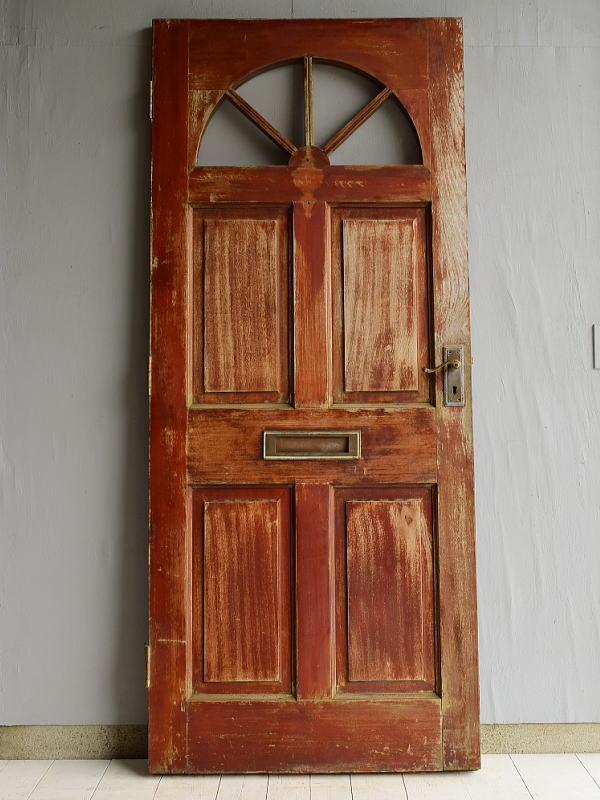 イギリス アンティーク アクリル入り木製ドア 扉 建具 6960