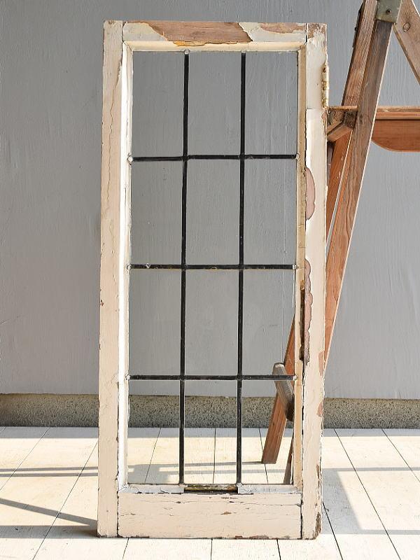 イギリス アンティーク 格子窓 無色透明 6984