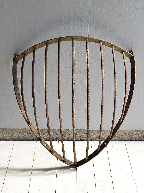イギリス アンティーク ハンギングプランター ウォールバスケット 6989