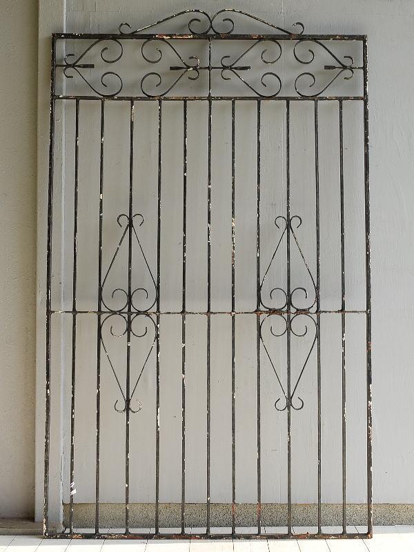 イギリス アンティーク アイアンフェンス ゲート柵  9545