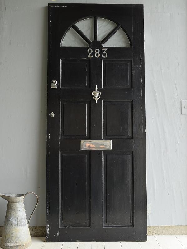 イギリス アンティーク ガラス入り木製ドア 扉 ディスプレイ 建具 7030