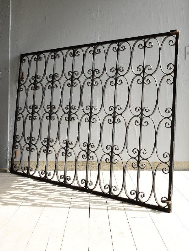 イギリスアンティーク アイアンフェンス ゲート柵  7039