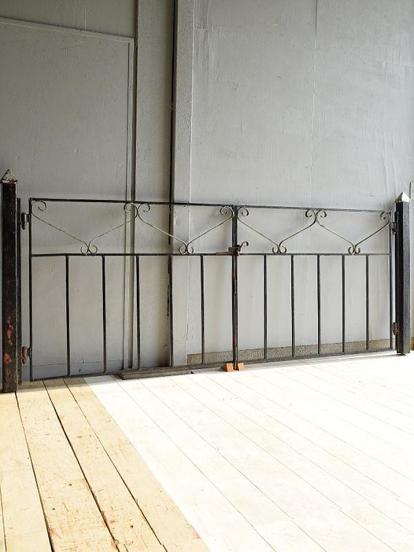 イギリスアンティーク アイアンフェンス ゲート柵 7040