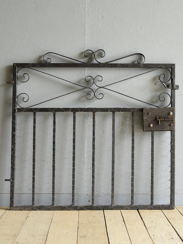 イギリス アンティーク アイアンフェンス ゲート柵 ガーデニング 9544