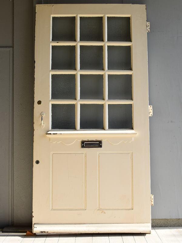 イギリス アンティーク ガラス入り木製ドア 扉 建具 7050