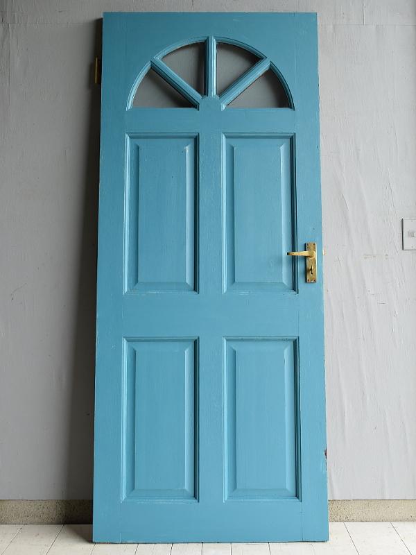 イギリス アンティーク ガラス入り木製ドア 扉 建具 7069