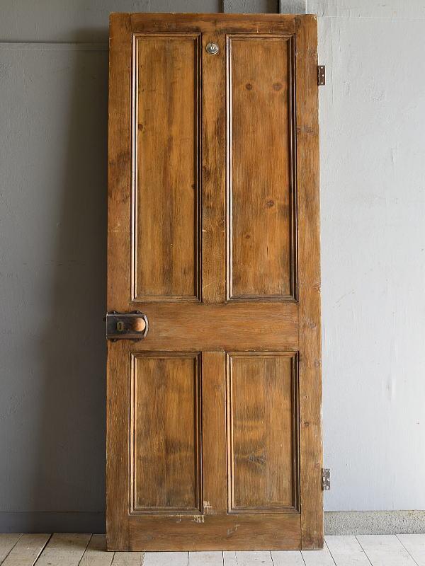 イギリス アンティーク オールドパインドア 扉  建具 7122