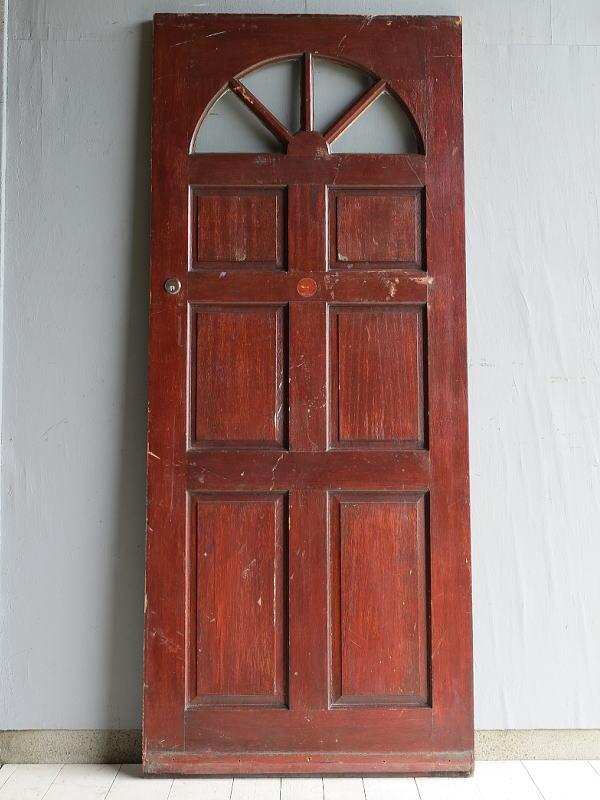 イギリス アンティーク アクリル入り木製ドア 扉 建具 7145