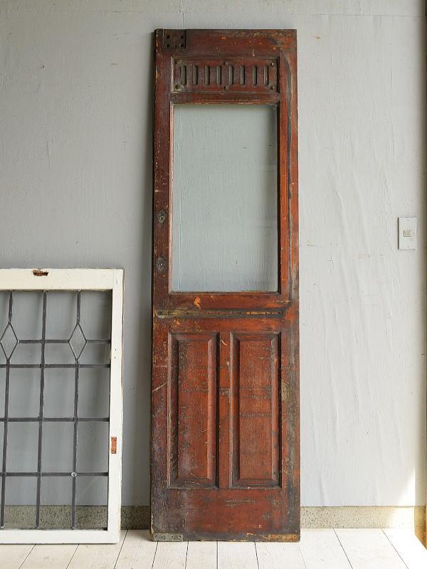 フレンチ アンティーク ガラス入り木製ドア扉 建具 7153