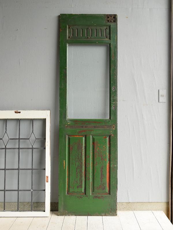 フレンチ アンティーク ガラス入り木製ドア扉 建具 7154
