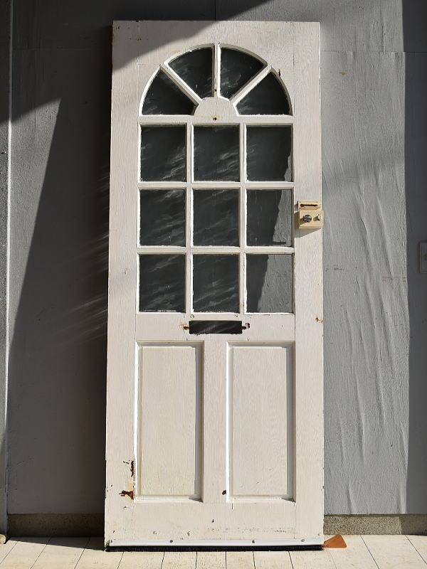 イギリス アンティーク ガラス入り木製ドア 扉 建具 7157