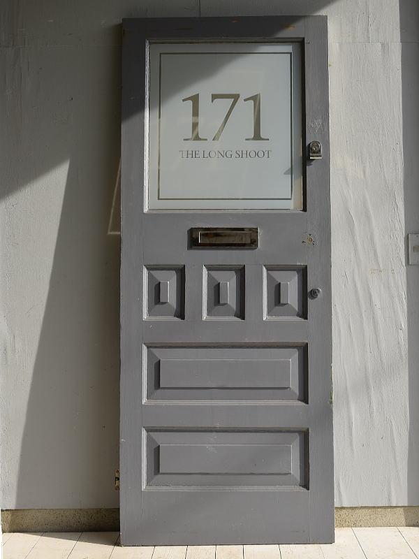 イギリス アンティーク ガラス入り木製ドア 扉 建具 7161