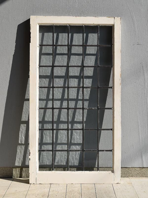 イギリス アンティーク 格子窓 無色透明 7171