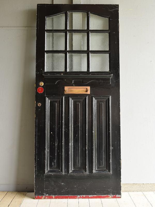 イギリス アンティーク ガラス入り木製ドア 扉 ディスプレイ 建具 7183