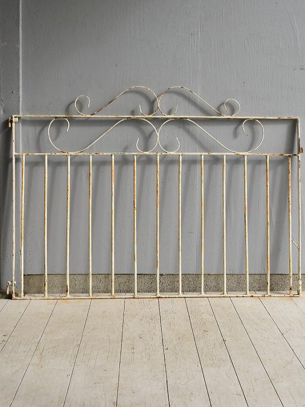 イギリス アンティーク アイアンフェンス ゲート柵 ガーデニング 7185