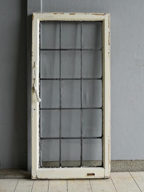 イギリス アンティーク 格子窓 無色透明 7204