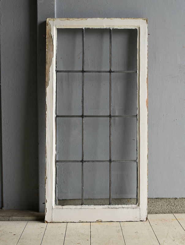 イギリス アンティーク 格子窓 窓 無色透明 7206