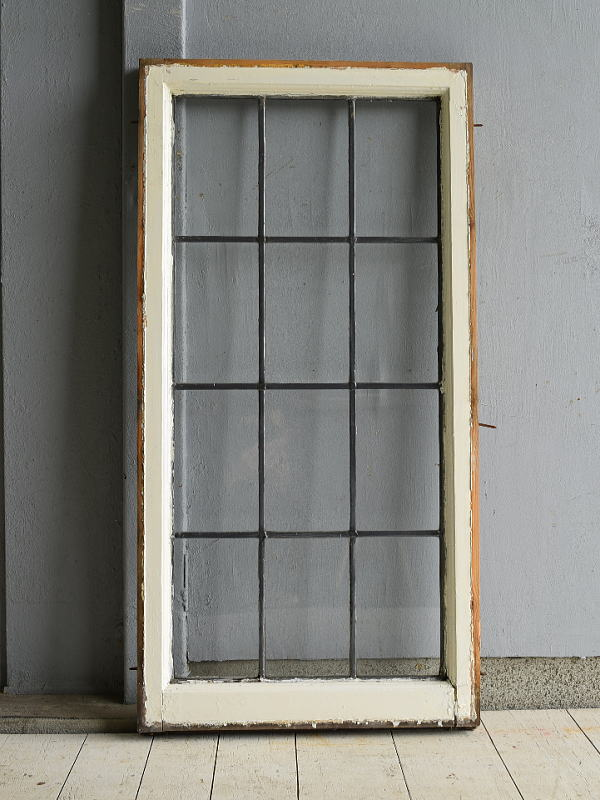 イギリス アンティーク 格子窓 窓 無色透明 7208