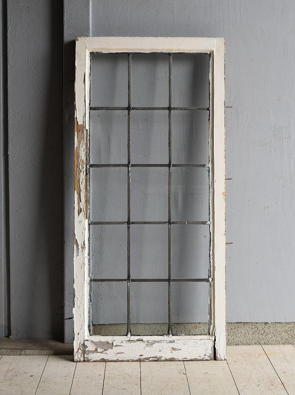 イギリス アンティーク 格子窓 窓 無色透明 7210