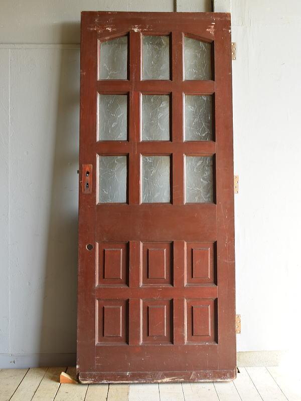 イギリス アンティーク ガラス入り木製ドア 扉 建具 7213