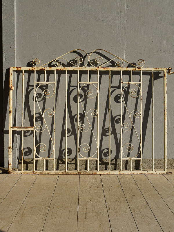 イギリス アンティーク アイアンフェンス ゲート柵 ガーデニング 7229