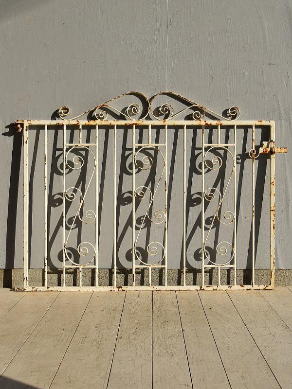 イギリス アンティーク アイアンフェンス ゲート柵 ガーデニング 7230