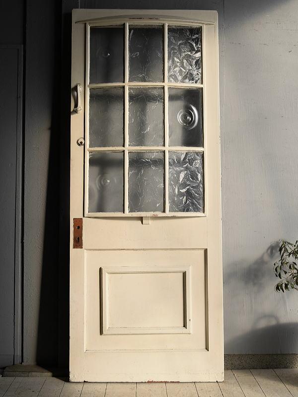 イギリス アンティーク ガラス入り木製ドア 扉 建具 7248
