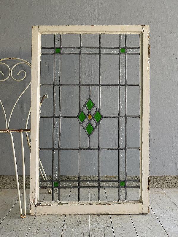 イギリス アンティーク ステンドグラス 窓 7598