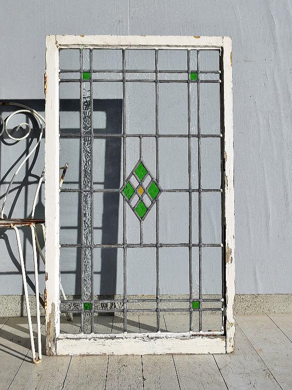 イギリス アンティーク ステンドグラス 窓 7601