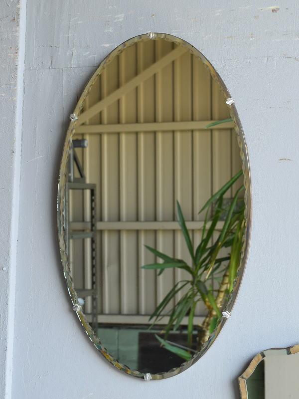 イギリス アンティーク  壁掛け ミラー 鏡 7622