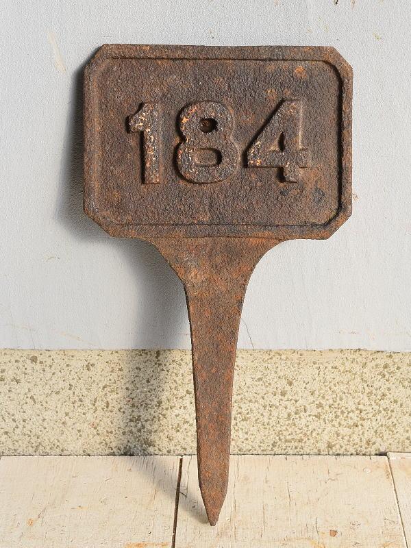 イギリス アンティーク レイルウェイサイン 鉄道標識 7628