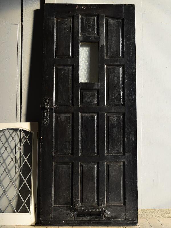 イギリス アンティーク ガラス ドア 扉 建具 7637