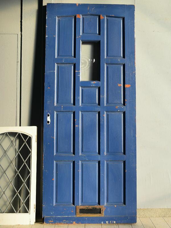 イギリス アンティーク ガラス ドア 扉 建具 7638