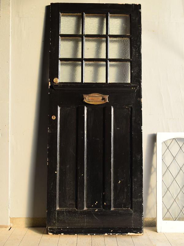 イギリス アンティーク ガラス ドア 扉 ディスプレイ 建具 7643
