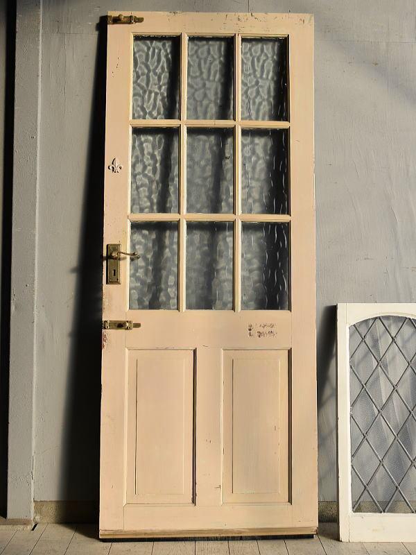 イギリス アンティーク ガラス ドア 扉 ディスプレイ 建具 7644