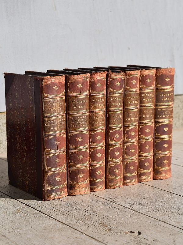 イギリス アンティーク ブック 本 7冊セット ディスプレイ 7663