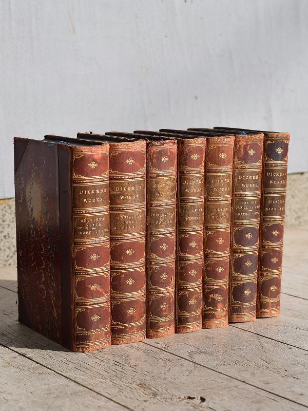 イギリス アンティーク ブック 本 7冊セット ディスプレイ 7664