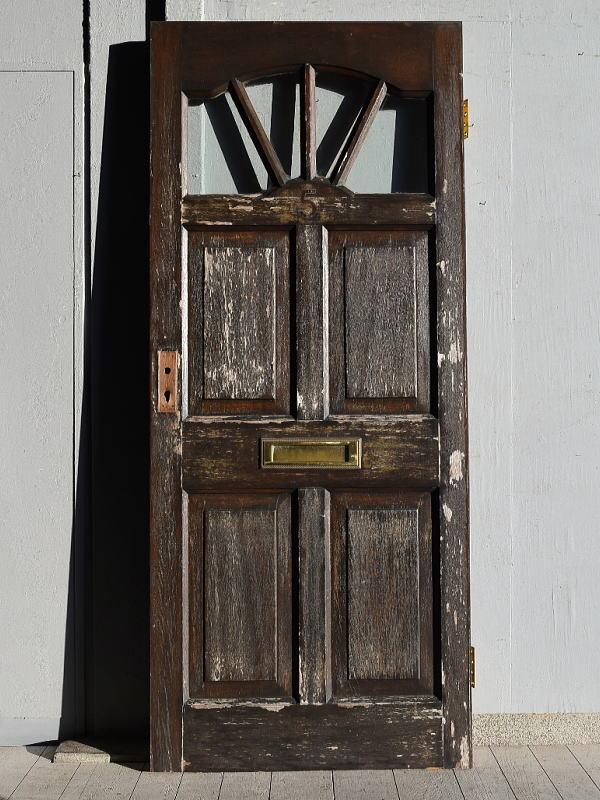 イギリス アンティーク ガラス ドア 扉 ディスプレイ 建具 7674