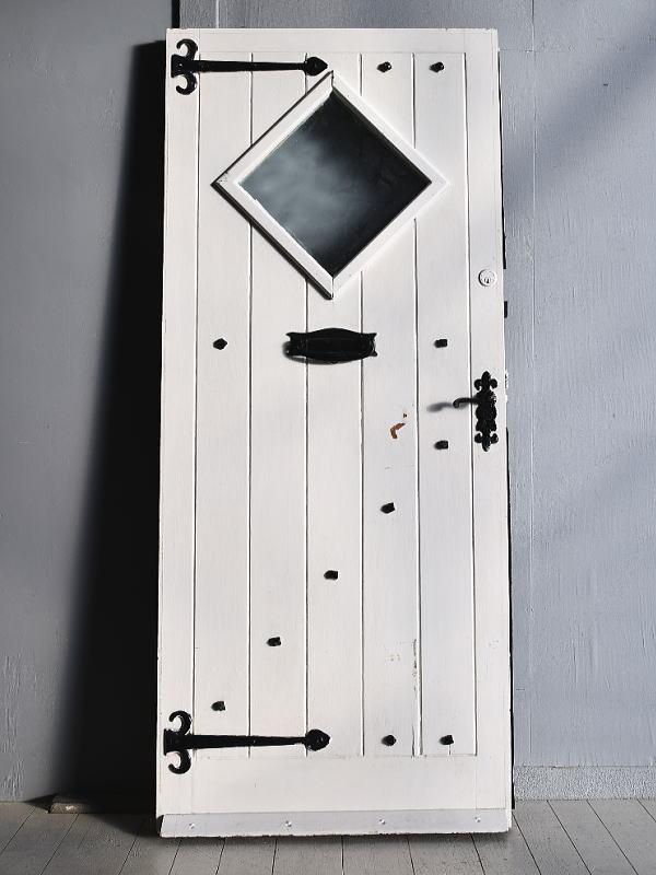 イギリス アンティーク ガラス ドア 扉 ディスプレイ 建具 7704
