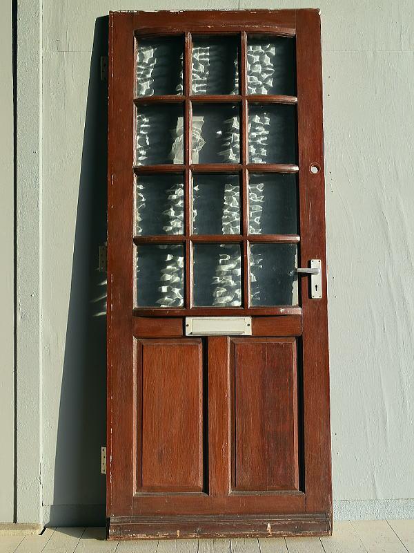 イギリス アンティーク ガラス ドア 扉 ディスプレイ 建具 7764