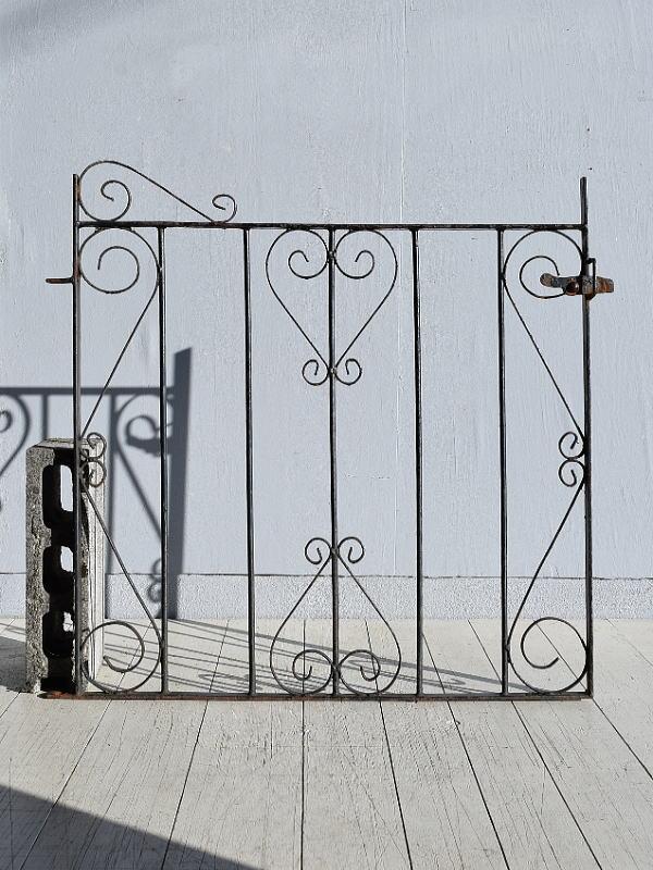 イギリス アンティーク アイアンフェンス ゲート柵 ガーデニング 7798