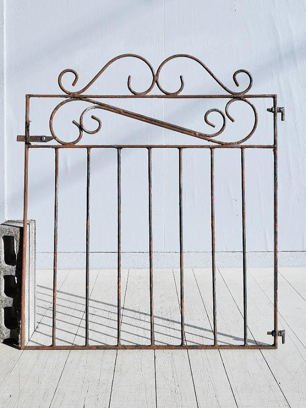 イギリス アンティーク アイアンフェンス ゲート柵 ガーデニング 7800