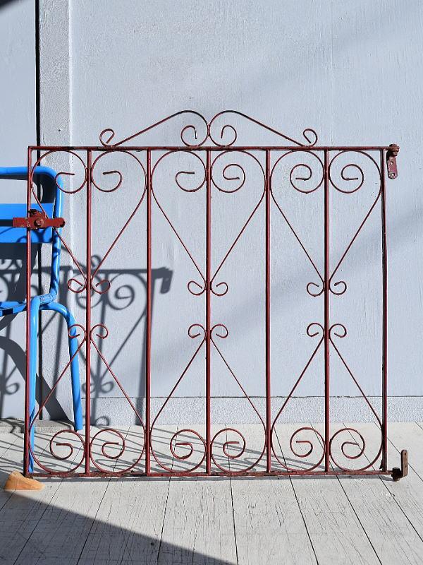 イギリス アンティーク アイアンフェンス ゲート柵 ガーデニング 7816