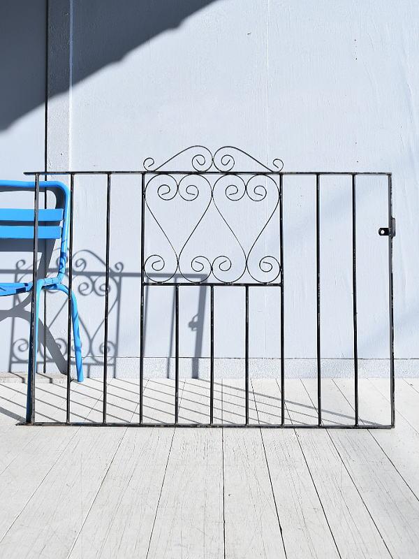 イギリス アンティーク アイアンフェンス ゲート柵 ガーデニング 7818