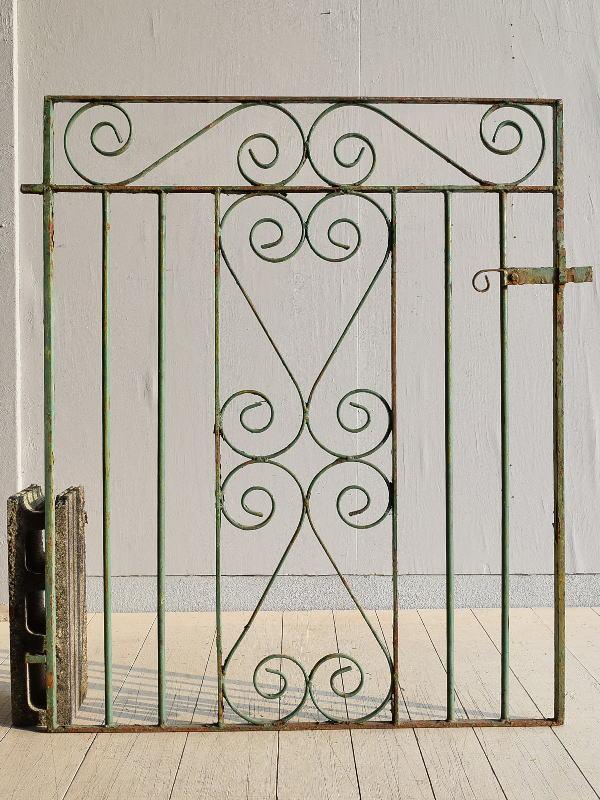イギリス アンティーク アイアンフェンス ゲート柵 ガーデニング 7856
